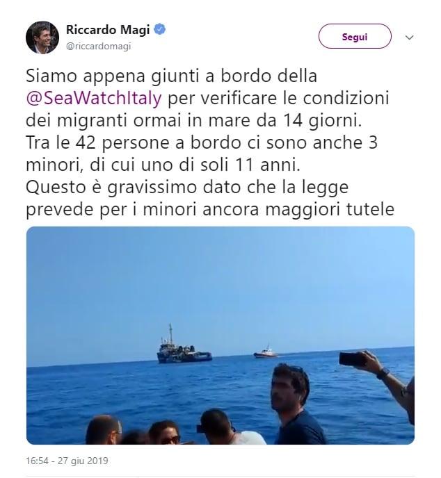 sea watch parlamentari video