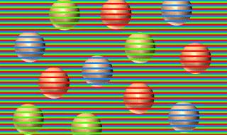 sfere marroni illusione ottica