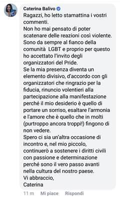 Caterina Balivo Milano Pride