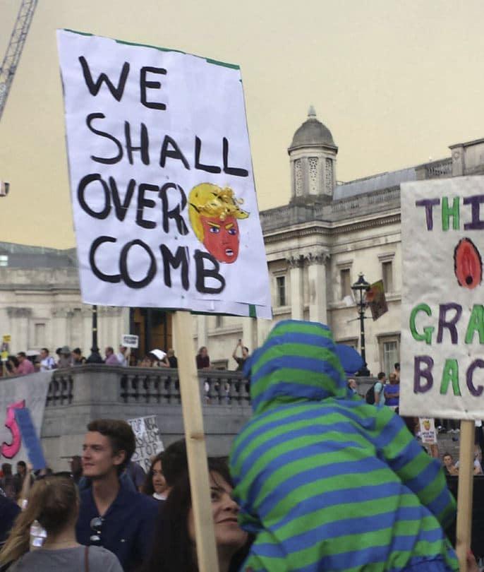 trump regno unito proteste