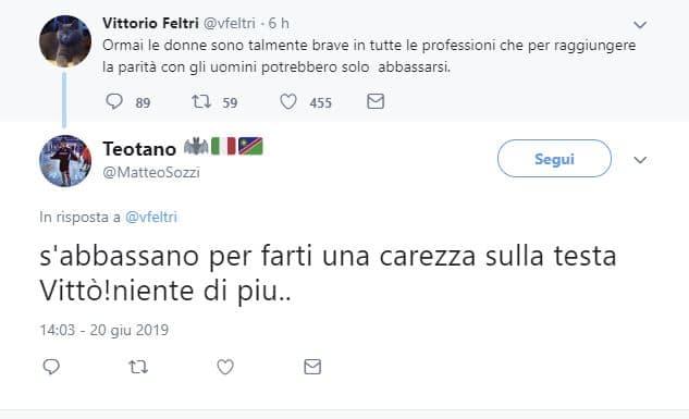 vittorio feltri tweet sessista