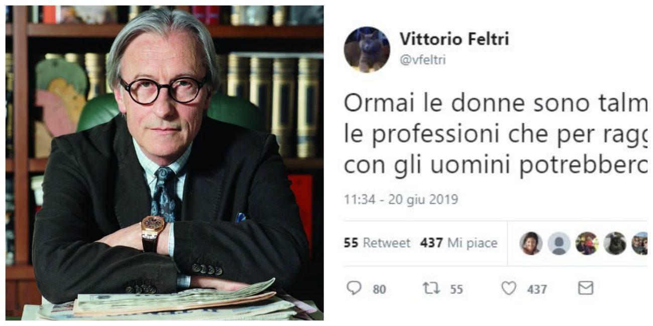 Vittorio Feltri e quel tweet con il doppio senso sessista che fa ...