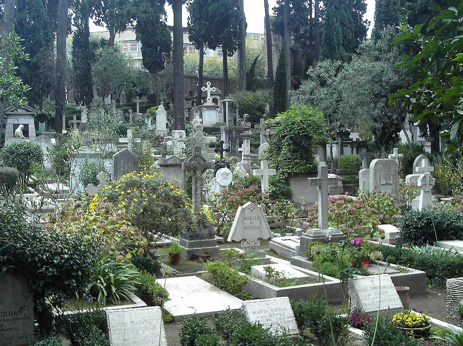 cimitero acattolico roma camilleri