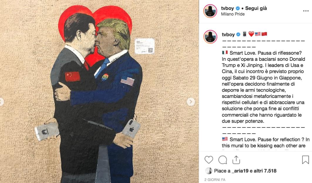 Donald Trump Xi Jinping murales