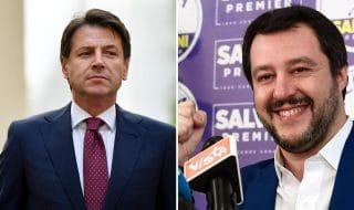 Scontro Salvini Conte