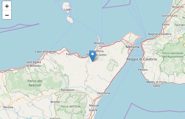 Terremoto oggi Messina