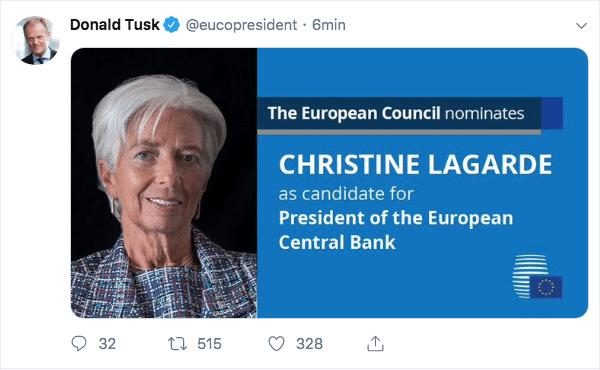 Lagarde presidente della BCE, ecco cosa cambierà