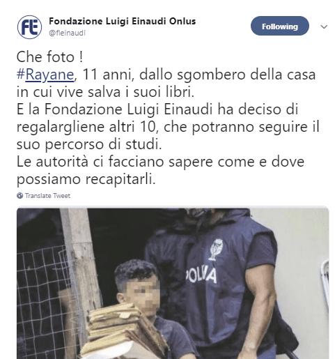 Donazione Rayane Luigi Einaudi