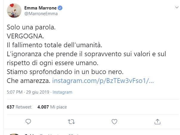Emma Marrone Sea Watch