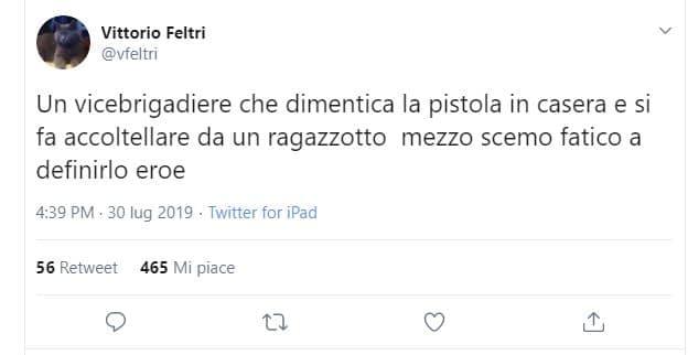 Vittorio feltri non è un eroe