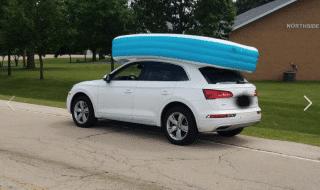 figli piscina gonfiabile auto