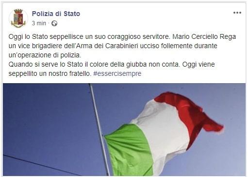 carabiniere ucciso roma polizia