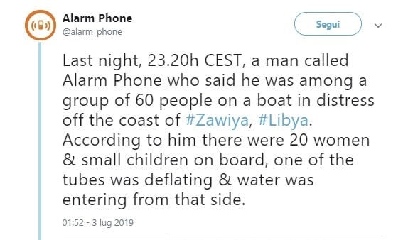 migranti gommone libia