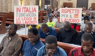 braccianti occupazione Basilica Bari