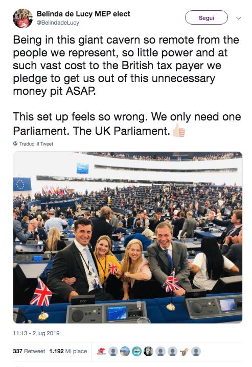 parlamento europeo protesta inno gioia