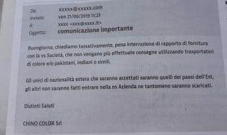 colore fornitori italiani razzisti
