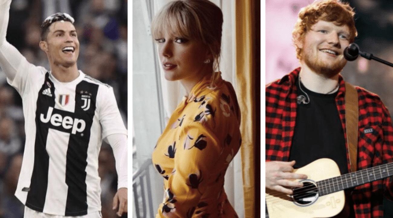 Forbes: la lista delle celebrità più ricche del 2019