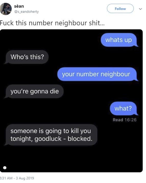neighbour number