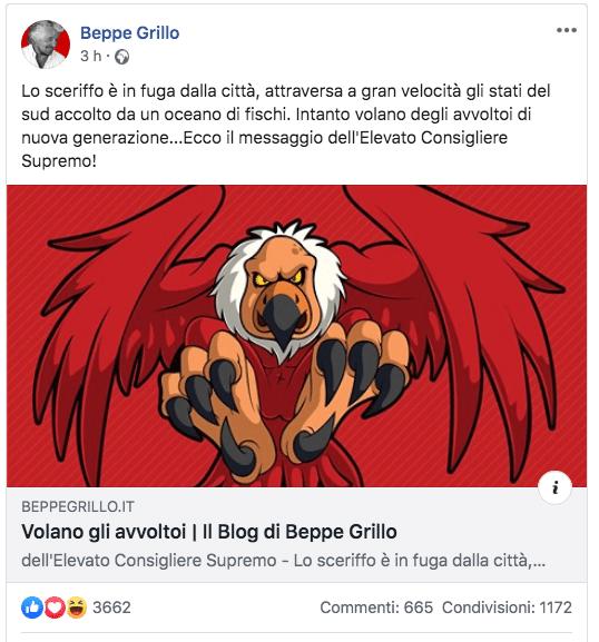 Grillo renzi avvoltoio