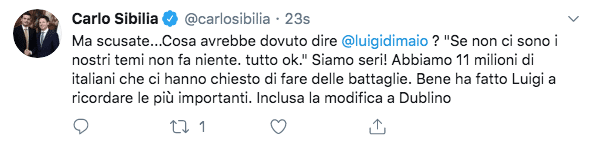 sibilia tweet