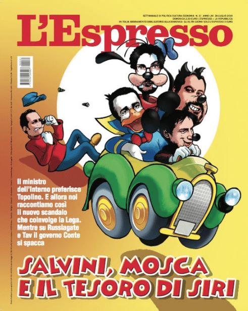 copertina espresso topolino salvini