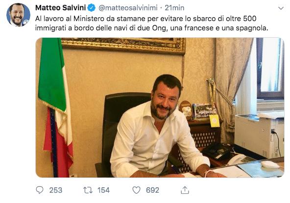 crisi di governo tweet salvini