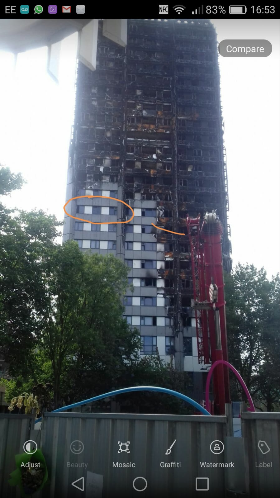sopravvissuto incendio grenfell tower