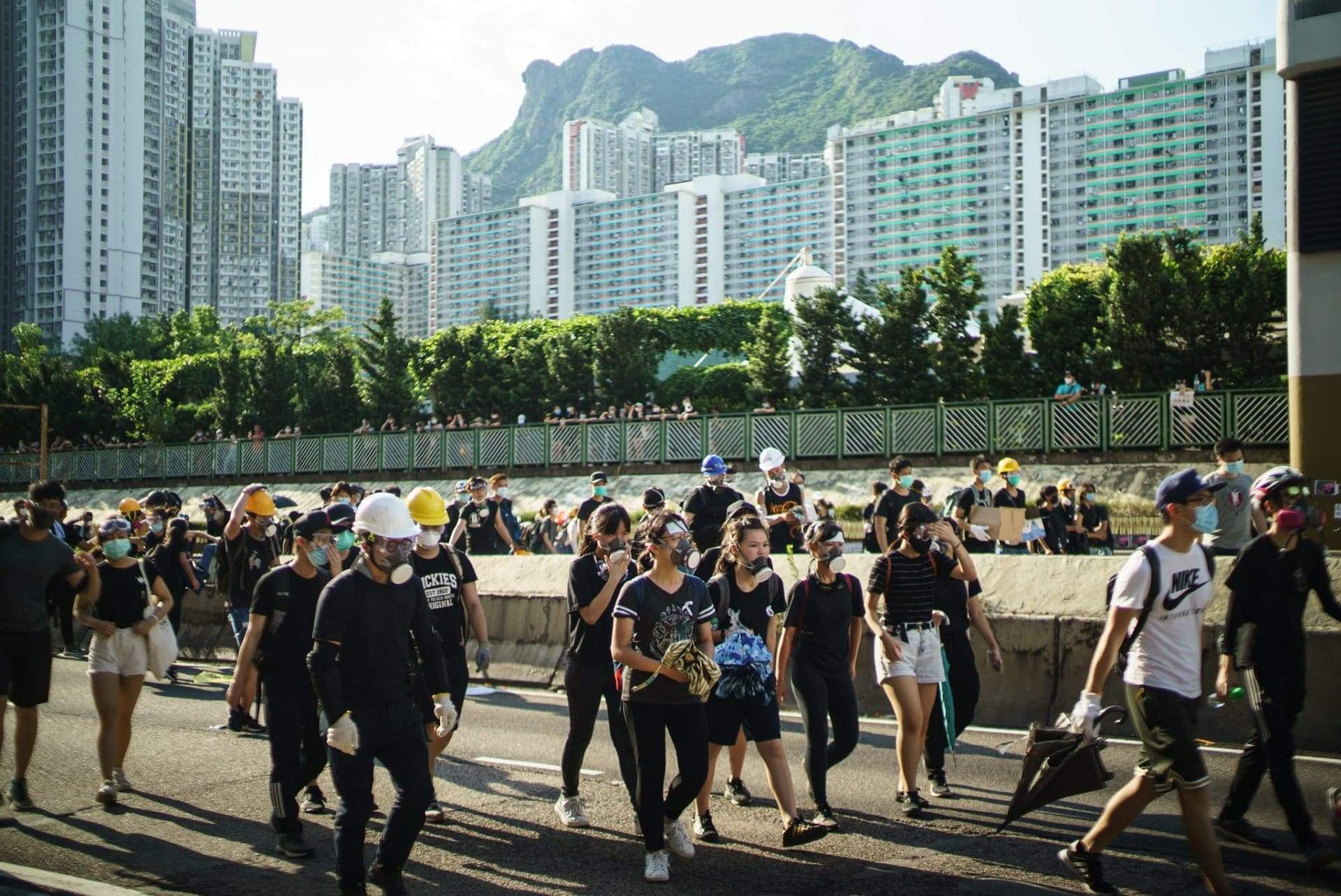 Il decimo weekend di proteste a Hong Kong, in dieci foto