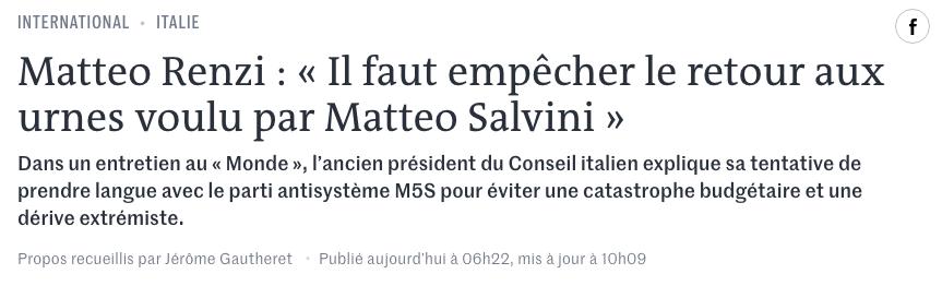 intervista Renzi Le Monde