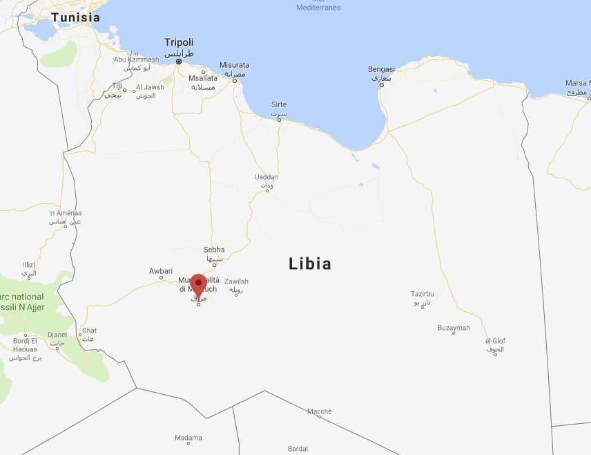 mappa marzuk libia
