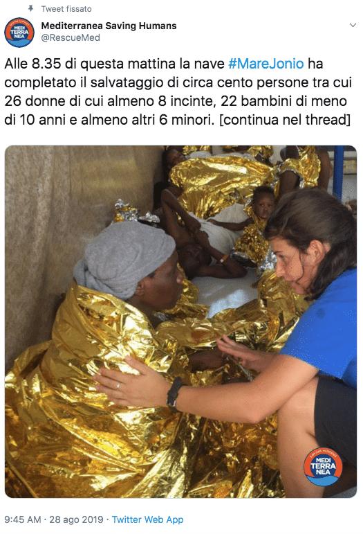 nave mare jonio salvataggio gommone bambini