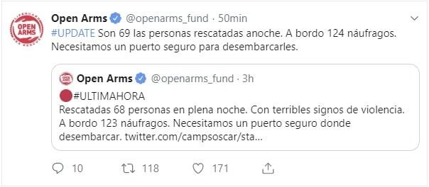open arms migranti
