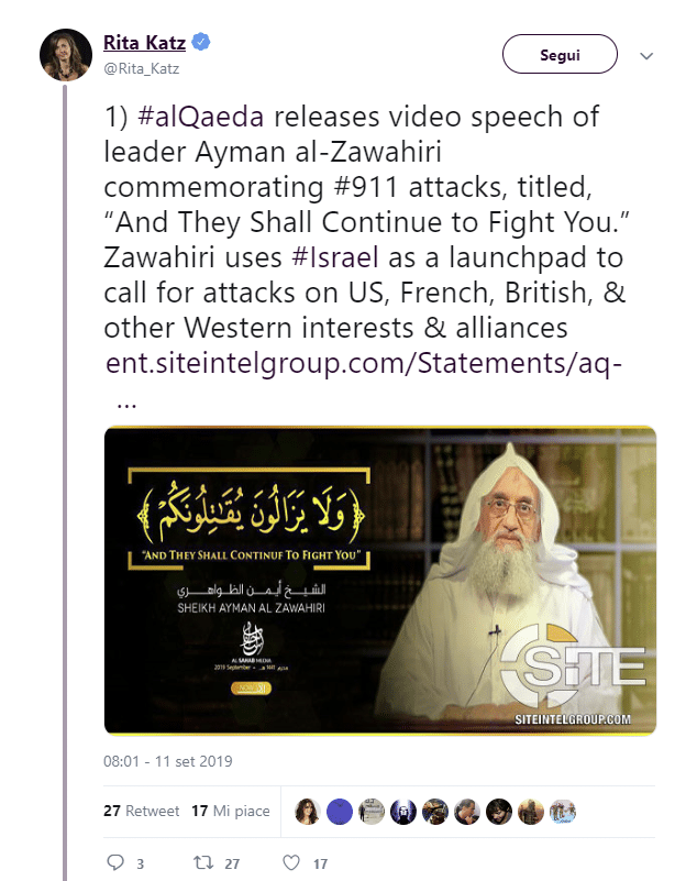 11 settembre al zawahiri