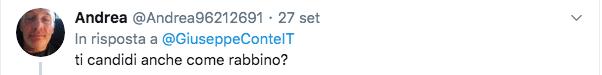 conte commenti antisemiti profilo twitter