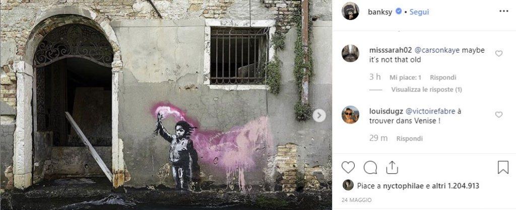 banksy murale rubato