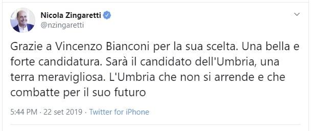 elezioni regionali umbria 2019