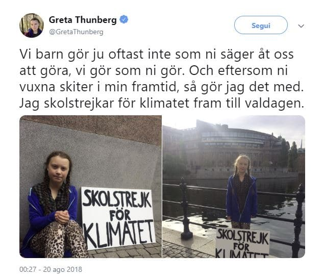 greta thunberg primo sciopero twitter
