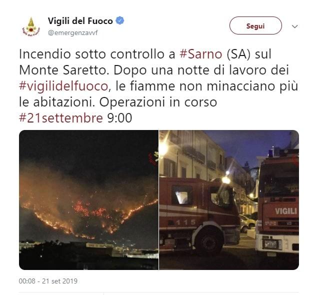 incendio sarno