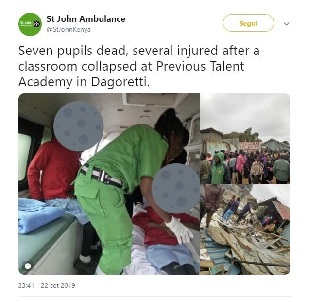 kenya crollo scuola