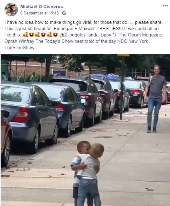 La corsa dei bimbi di due anni per abbracciarsi