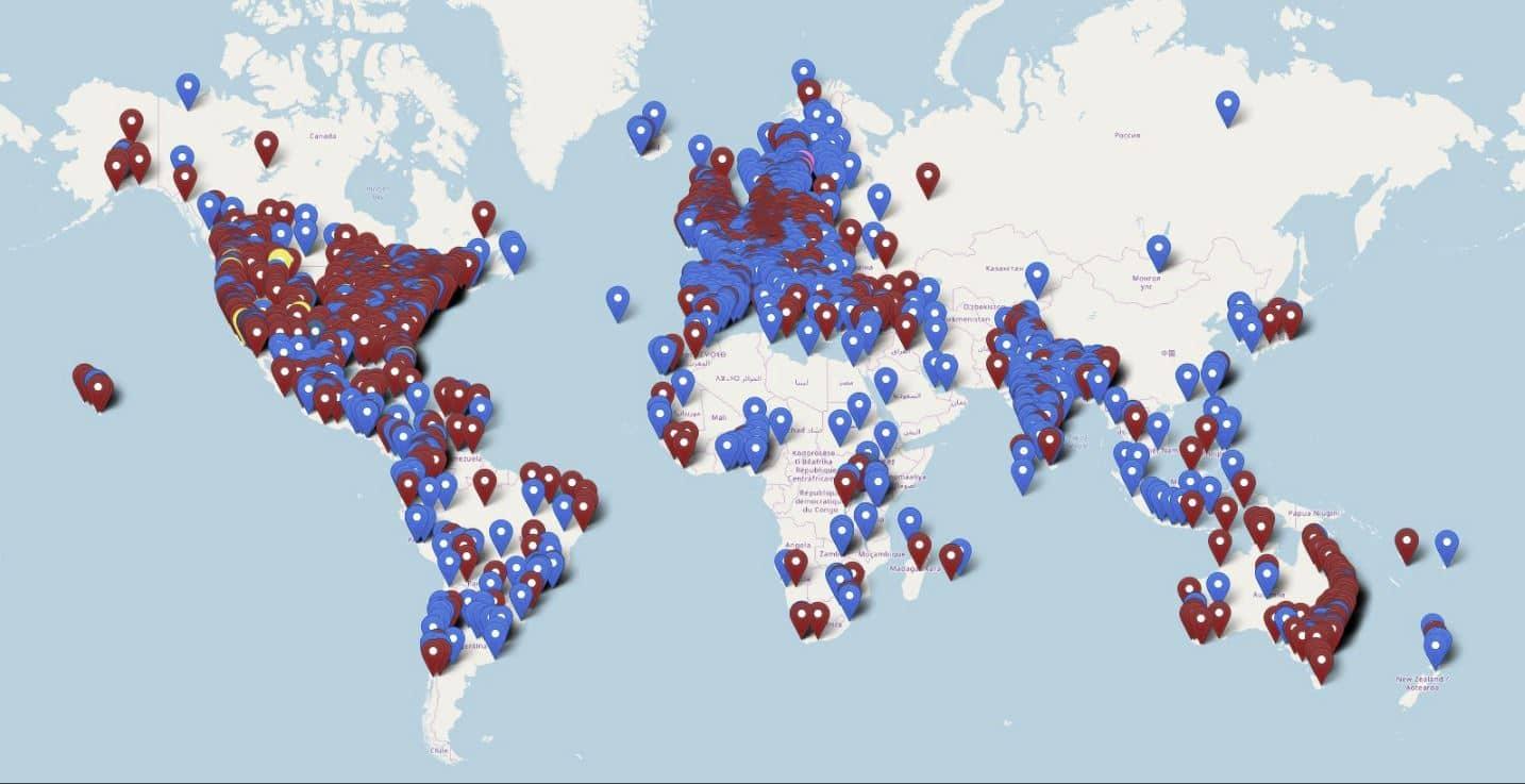 settimana clima sciopero globale mappa