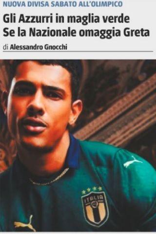 italia maglia verde il giornale