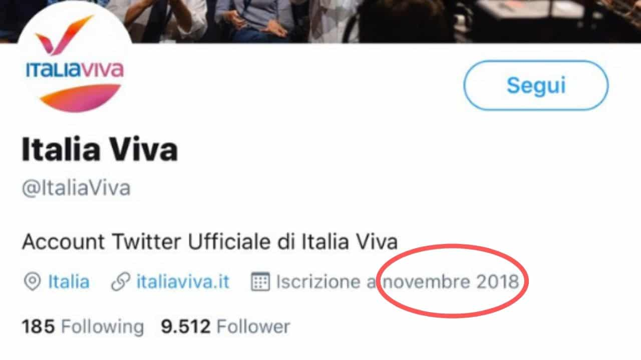 Italia Viva twitter