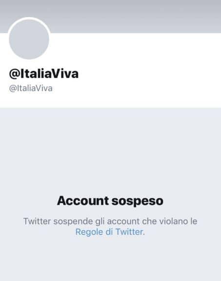 italia viva account twitter