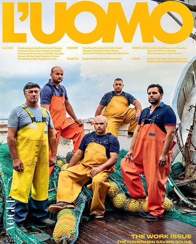 La copertina di Vogue dedicata ai pescatori siciliani