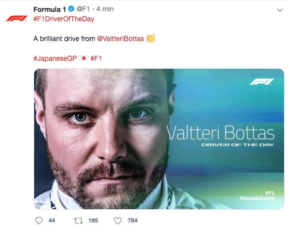 Chi ha vinto il gran premio di formula 1 oggi