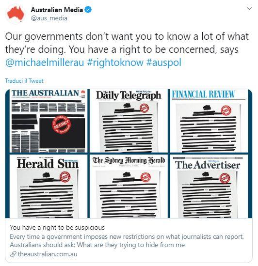 australia censura giornali