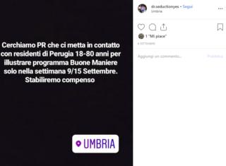 Un post sul profilo Instagram di Dr. Seduction