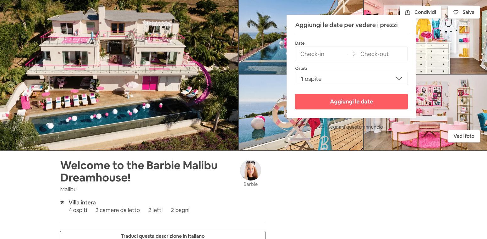 casa barbie airbnb