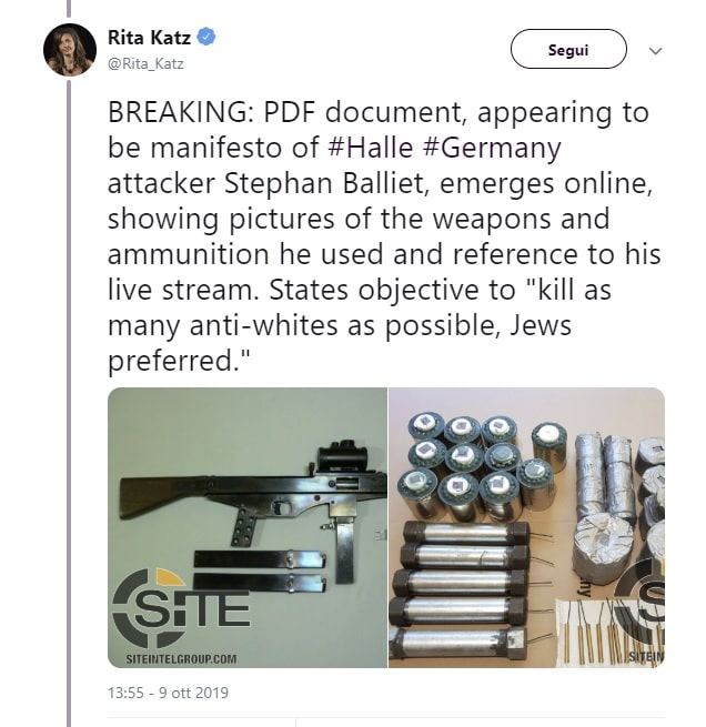 manifesto antisemita halle